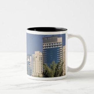 UAE, Dubai. Towers of Jumeirah Beach Residence Mug