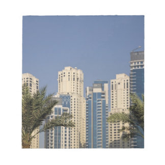 UAE, Dubai. Towers of Jumeirah Beach Residence Notepad