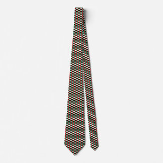 UAE Flag Honeycomb Tie