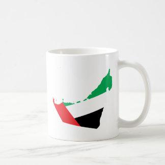 Uae Flag Map full size Coffee Mug