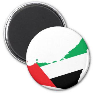 Uae flag map fridge magnet