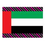 Uae Flag Postcard