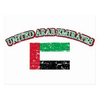 UAE football design Postcard