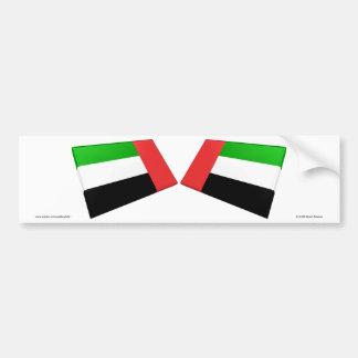 UAE & Fujairah Flag Tiles Bumper Sticker
