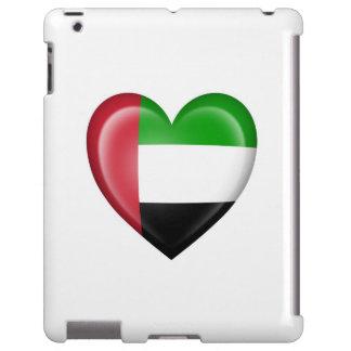 UAE Heart Flag on White