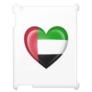 UAE Heart Flag on White iPad Case