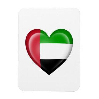 UAE Heart Flag on White Magnet