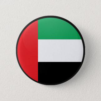 Uae quality Flag Circle Pinback Button