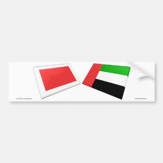UAE & Ras al-Khaimah Flag Tiles Bumper Sticker