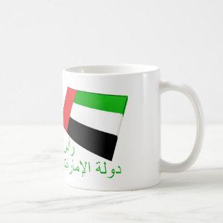 UAE & Ras al-Khaimah Flag Tiles Coffee Mug