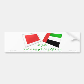 UAE & Sharjah Flag Tiles Bumper Sticker