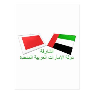 UAE & Sharjah Flag Tiles Postcard