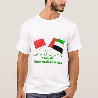 UAE & Sharjah Flag Tiles T-Shirt