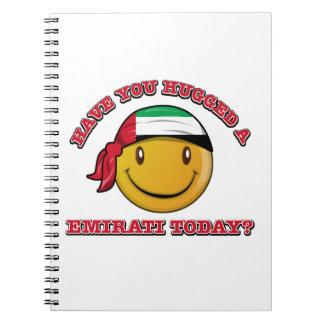 UAE smiley flag designs Notebook