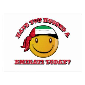 UAE smiley flag designs Postcard