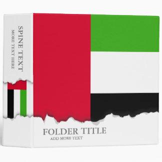 UAE United Arab Emirates Flag 3 Ring Binder