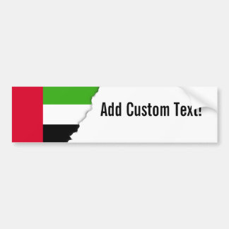 UAE United Arab Emirates Flag Bumper Sticker