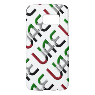UAE United Arab Emirates Flag Colors Typography Samsung Galaxy S7 Case