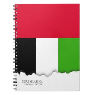 UAE United Arab Emirates Flag Notebook