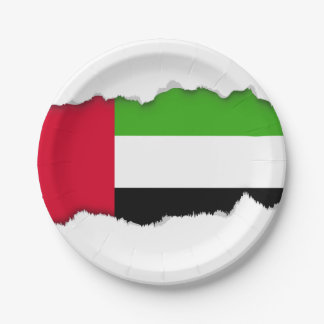 UAE United Arab Emirates Flag Paper Plate