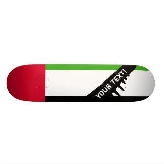 UAE United Arab Emirates Flag Skateboard Deck