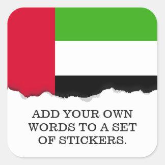 UAE United Arab Emirates Flag Square Sticker
