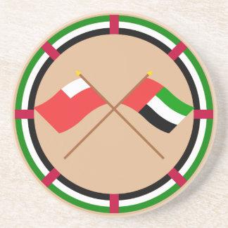 UAE y banderas cruzadas Abu Dhabi Posavasos Cerveza