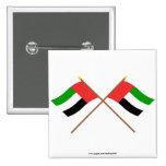 UAE y banderas cruzadas Fudjairah Pin