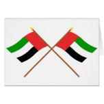 UAE y banderas cruzadas Fudjairah Tarjetas