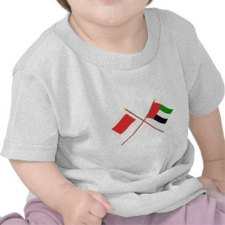 UAE y banderas cruzadas Sharja Camisetas