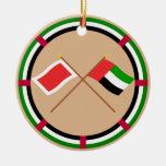 UAE y banderas cruzadas Sharja Ornato