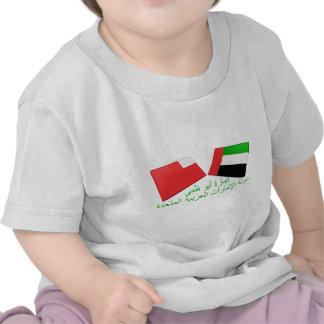 UAE y tejas de la bandera de Abu Dhabi Camiseta