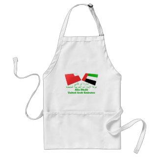 UAE y tejas de la bandera de Abu Dhabi Delantales