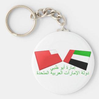 UAE y tejas de la bandera de Abu Dhabi Llavero