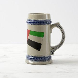 UAE y tejas de la bandera de Abu Dhabi Taza De Café