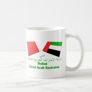 UAE y tejas de la bandera de Dubai Taza