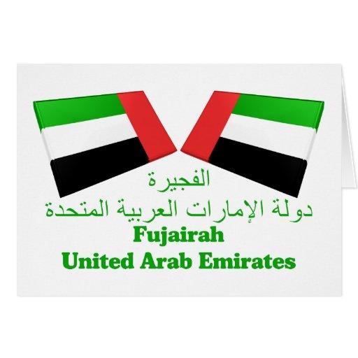 UAE y tejas de la bandera de Fudjairah Tarjeta De Felicitación