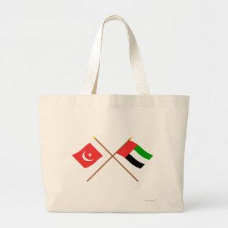 UAE y Umm banderas cruzadas al-Quwain Bolsa