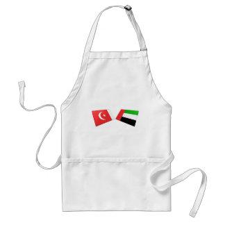 UAE y Umm tejas de la bandera del al-Quwain Delantal