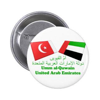 UAE y Umm tejas de la bandera del al-Quwain Pin