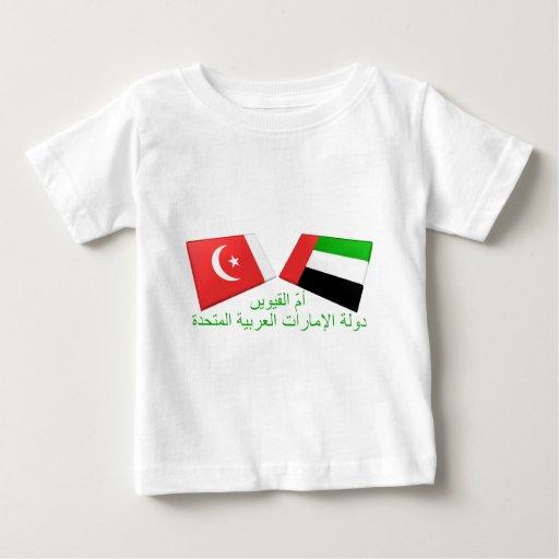 UAE y Umm tejas de la bandera del al-Quwain Tee Shirt