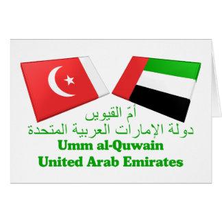 UAE y Umm tejas de la bandera del al-Quwain Tarjeta De Felicitación