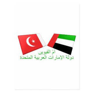 UAE y Umm tejas de la bandera del al-Quwain Postal