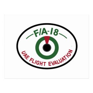 UAEAF Patch Sqn United Arab Emirates Air Force FA Postcard