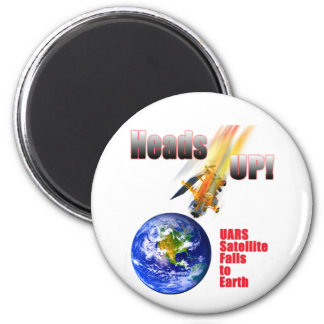 UARS Satellite Falls to Earth 2 Inch Round Magnet