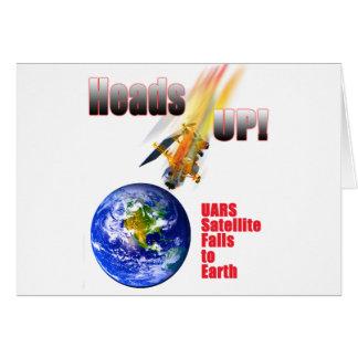 UARS Satellite Falls to Earth Card
