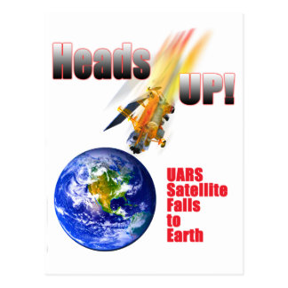 UARS Satellite Falls to Earth Postcard