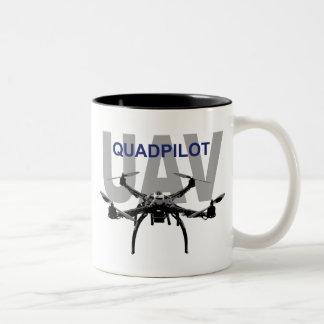 UAV Quadpilot Quadcopter Pilot Two-Tone Coffee Mug