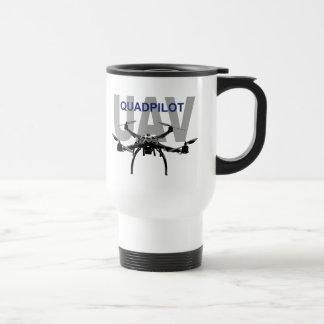UAV Quadpilot Quadcopter Pilot 15 Oz Stainless Steel Travel Mug