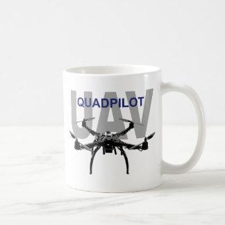 UAV Quadpilot Quadcopter Pilot Classic White Coffee Mug
